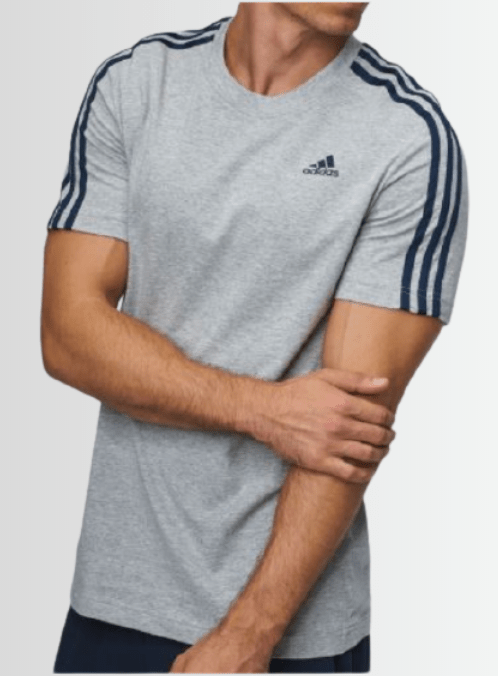 ADIDAS ESS T-SHIRT CREW NECK - Laurelled