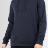 BRAVE SOUL PLAIN BRUSHBACK FLEECE DRAWSTRING HOODIE - Laurelled