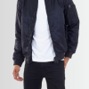 BRAVE SOUL CONTRAST COLOUR LINING DETAIL BLACK BOMBER JACKET - Laurelled