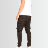 BRAVE SOUL CAMOUFLAGE DRAWSTRING CARGO TROUSERS - Laurelled