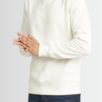 BRAVE SOUL RIBBED HEM _ CUFF CREW NECK SWEATSHIRT - Laurelled