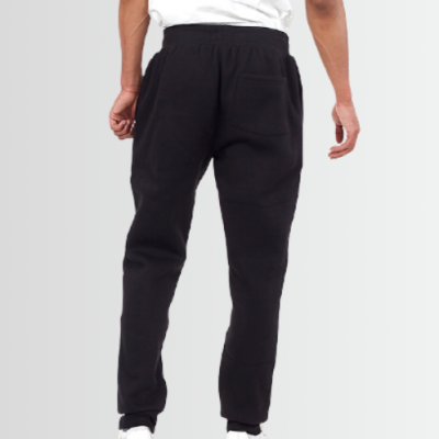 BRAVE SOUL BLACK FITTED BRUSHED BACK FLEECE CUFFED JOG PANTS - Laurelled