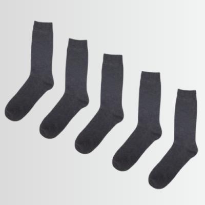 BRAVE SOUL FIVE PACK PLAIN GREY SOCKS - Laurelled