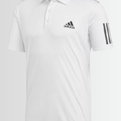 Adidas Originals Men's 3-Stripe Club Short Sleeve Polo - Laurelled