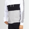 BRAVE SOUL RIBBED HEM _ CUFF CONTRAST PANEL HOODIE - Laurelled
