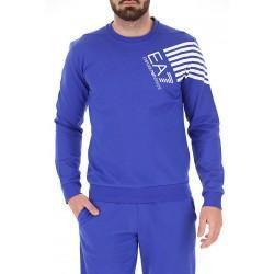 Armani Men's EA7 Seven Stripe Blue Tracksuit - Laurelled