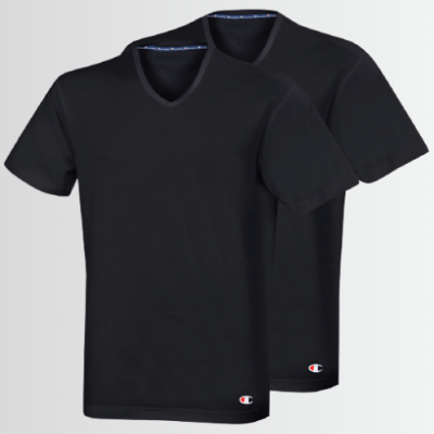 Champion T-SHIRT V NECK (Pack of 2) - Laurelled