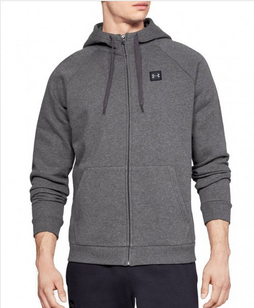 UNDER ARMOUR RIVAL FULL ZIP FLEECE HOODIE - Laurelled