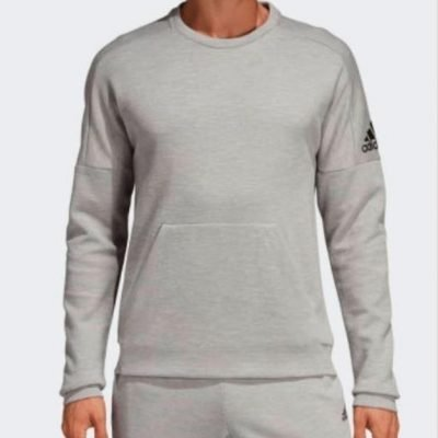 ADIDAS ID STADIUM CREW NECK JUMPER MENS GREY - Laurelled